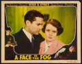 "Movie Posters:Crime, A Face in the Fog (Victory, 1936). Lobby Card (11"" X 14""). Crime.. ..."