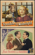 "Movie Posters:Drama, Some Blondes are Dangerous Lot (Universal, 1937). Lobby Cards (2) (11"" X 14""). Drama.. ... (Total: 2 Items)"