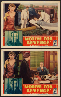 "Motive for Revenge (Majestic, 1935). Lobby Cards (2) (11"" X 14""). Crime. ... (Total: 2 Items)"