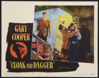 "Cloak and Dagger (Warner Brothers, 1946). Lobby Card (11' X 14""). Thriller"