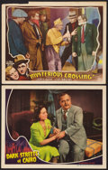 "Movie Posters:Mystery, Dark Streets of Cairo Lot (Universal, 1940). Lobby Cards (2) (11"" X14""). Mystery.. ... (Total: 2 Items)"