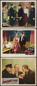 "Movie Posters:Mystery, The Panther's Claw Lot (PRC, 1942). Lobby Cards (3) (11"" X 14""). Mystery.. ... (Total: 3 Items)"