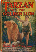 Books:Science Fiction & Fantasy, Edgar Rice Burroughs. Tarzan and the Golden Lion. Grosset& Dunlap, [1924].. Photoplay edition. Signed by Edga...
