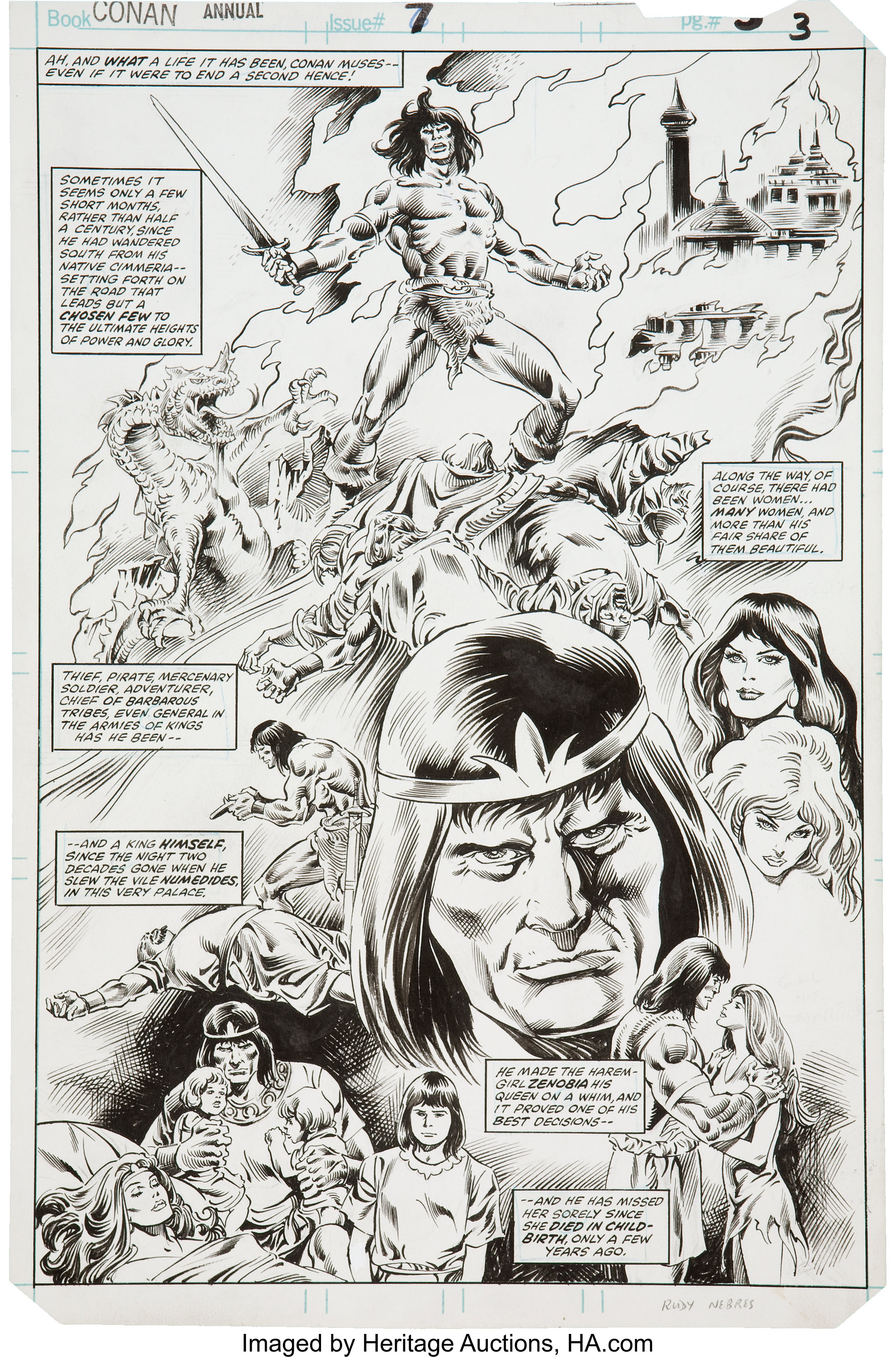 7 Muses Comics john buscema and danny bulanadi conan annual #7 splash page
