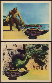 """The 7th Voyage of Sinbad (Columbia, 1958). Lobby Cards (2) (11"""" X 14""""). Fantasy. ... (Total: 2 Items)"""