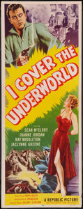 "Movie Posters:Crime, I Cover the Underworld (Republic, 1955). Insert (14"" X 36"").Crime.. ..."