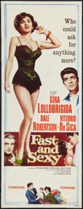 """Movie Posters:Comedy, Fast and Sexy (Columbia, 1960). Insert (14"""" X 36""""). Comedy.. ..."""