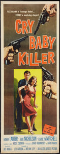 "Movie Posters:Drama, Cry Baby Killer (Allied Artists, 1958). Insert (14"" X 36""). Drama.. ..."