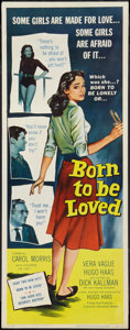 "Movie Posters:Romance, Born to Be Loved (Universal International, 1959). Insert (14"" X 36""). Romance.. ..."