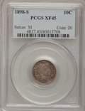 Barber Dimes: , 1898-S 10C XF45 PCGS. PCGS Population (8/62). NGC Census: (2/43).Mintage: 1,702,507. Numismedia Wsl. Price for problem fre...