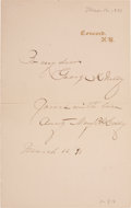 "Autographs:Celebrities, Mary Baker Eddy Autograph Note Signed ""Aunty Mary B.G. Eddy""...."