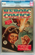 Golden Age (1938-1955):War, Heroic Comics #17 File Copy (Eastern Color, 1943) CGC NM 9.4Off-white pages....