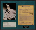Music Memorabilia:Autographs and Signed Items, Buddy Holly and the Crickets Contract Signed by Norman Petty(1958)...