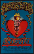Music Memorabilia:Posters, Big Brother and the Holding Company/Santana Fillmore West ConcertPoster BG-136 (Bill Graham, 1968)....