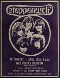 Music Memorabilia:Posters, Steppenwolf Will Rogers Coliseum Concert Poster (EntertainmentConsultants Inc., 1968)....
