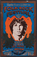 Music Memorabilia:Posters, The Doors Northern California Folk-Rock Festival Poster (Q.R.Productions, 1968)....