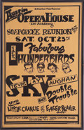 Music Memorabilia:Posters, Stevie Ray Vaughan/Fabulous Thunderbirds Austin Opera House ConcertPoster (Opera House/Majer Production, 1988)....
