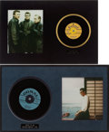 Music Memorabilia:Recordings, Buddy Holly - Two Promo 45 Framed Displays (1957-58).... (Total: 2)