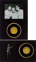 Music Memorabilia:Recordings, Buddy Holly and the Crickets Record Display Group (1958-65)....(Total: 2 Items)