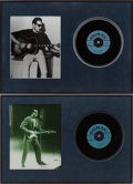 Music Memorabilia:Recordings, Buddy Holly Promo Record Display Group (1958).... (Total: 2 Items)