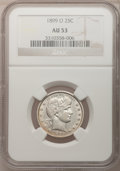 Barber Quarters: , 1899-O 25C AU53 NGC. NGC Census: (4/73). PCGS Population (5/117).Mintage: 2,644,000. Numismedia Wsl. Price for problem fre...