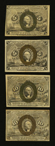 Fractional Currency:Second Issue, Four Different 5¢ and 10¢ Second Issue Fractionals.. ... (Total: 4 notes)