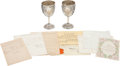 Autographs:Military Figures, [Absalom H. Markland] Silver Congressional Presentation Goblets andArchive,... (Total: 2 Items)
