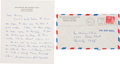 Autographs:Inventors, J. Robert Oppenheimer Autograph Letter Signed To His Aunt....