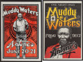 Music Memorabilia:Posters, Muddy Waters Antones Concert Poster Group (1978-80).... (Total: 2Items)