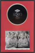 "Music Memorabilia:Recordings, Beach Boys ""Surfin"" Rare Promo 45 Display (Candix 301, 1961)...."