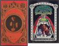 Music Memorabilia:Posters, Janis Joplin and Jefferson Airplane Concert Poster Group (BillGraham, 1967-69).... (Total: 2 Items)