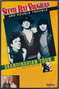 Music Memorabilia:Posters, Stevie Ray Vaughan Scandinavian Tour Concert Poster and Photo(Stageway, 1984)....