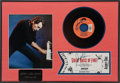 Music Memorabilia:Autographs and Signed Items, Jerry Lee Lewis Display of Three Signed Items (1989)....