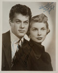 Movie/TV Memorabilia:Autographs and Signed Items, Tony Curtis and Janet Leigh Signed Photo....