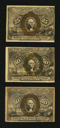 Fractional Currency:Second Issue, 25¢ and 50¢ Second Issue Fractionals.. ... (Total: 3 notes)