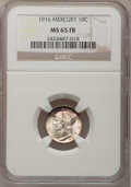 Mercury Dimes: , 1916 10C MS65 Full Bands NGC. NGC Census: (595/406). PCGSPopulation (819/433). Mintage: 22,180,080. Numismedia Wsl. Price...