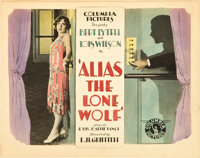 """Alias the Lone Wolf (Columbia, 1927). Title Lobby Card and Lobby Card (11"""" X 14""""). ... (Total: 2 Items)"""