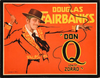"Don Q, Son of Zorro (United Artists, 1925). Title Lobby Card and Lobby Card (11"" X 14""). ... (Total: 2 Items)"