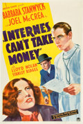 "Movie Posters:Drama, Internes Can't Take Money (Paramount, 1937). One Sheet (27"" X41"").. ..."