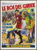 "Movie Posters:Adventure, If I Were King (Paramount, 1938). Belgian (14"" X 19.25"").Adventure.. ..."