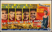 "The Sun Also Rises (20th Century Fox, 1957). Belgian (13"" X 21""). Drama"