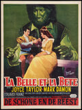 "Movie Posters:Fantasy, Beauty and the Beast (United Artists, 1962). Belgian (14"" X 18.5""). Fantasy.. ..."