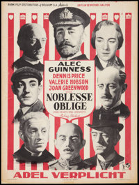 "Kind Hearts and Coronets (Rank, 1949). Belgian (14"" X 19""). Comedy"