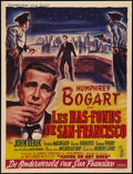 "Movie Posters:Film Noir, Knock on Any Door (Columbia, 1949). Belgian (14"" X 18.5""). Film Noir.. ..."