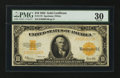 Large Size:Gold Certificates, Fr. 1173 $10 1922 Gold Certificate. PMG Very Fine 30.. ...