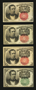 Fractional Currency:Fifth Issue, 10¢ Fifth Issue Fractionals.. ... (Total: 4 notes)