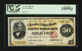 Large Size:Gold Certificates, Fr. 1193 $50 1882 Gold Certificate PCGS Very Fine 25PPQ.. ...