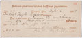 Autographs:Celebrities, National-American Woman Suffrage Association Check Signed by Susan B. Anthony, Alice Stone Blackwell and Harriet Taylor Upton....