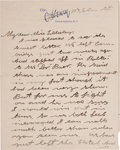 "Autographs:Celebrities, Annie Oakley Autograph Letter Signed ""Annie Oakley Butler.""Four pages, 5.25"" x 6.75"", Greensboro, North Carolina, O..."