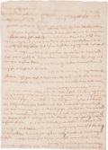 "Autographs:Celebrities, Abigail Adams 1811 Autograph Letter Signed Writing of the DecliningHealth of Her Sister, Mary Cranch: ""I fear to flatter ..."